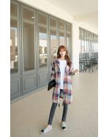 WJ7295 Checker Cardigan As Picture