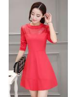 PD1538 Fashion Dress Red (Pre Order)