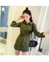 WT7339 Fashion Top Army Green