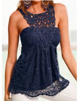 WT3752 Sexy Lace Top Blue