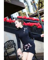 PC1597 Stylish Cheongsam Black (Pre Order)