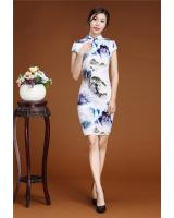 PC1659 Charming Cheongsam Blue (Pre Order)