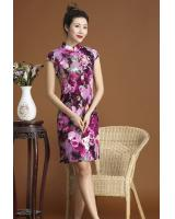 PC1661 Trendy Cheongsam Purple (Pre Order)