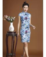 PC1666 Charming Cheongsam Blue (Pre Order)
