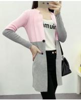 WJ3758 Fashion Knitted Cardigan Pink