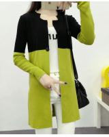 WJ3758 Fashion Knitted Cardigan Green