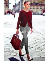 WT7472 Fashion One Piece Top Maroon