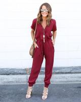 WP7478 Charming Jumpsuit Maroon