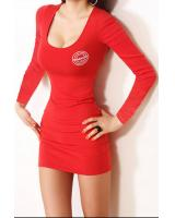 WD7482 Sexy Hugging Dress Red