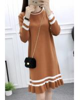 WD3761 Korea Fashion Dress Khaki