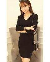 WD3762 Sexy Dress Black