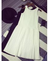 WD3763 Sleeveless Dress White