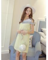 WD3769 Lovely Dress Yellow