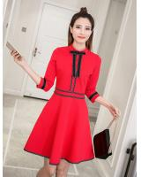 WD7492 Korea Charming Dress Red