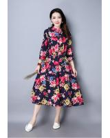WD7496 Elegant Floral Dress Blue