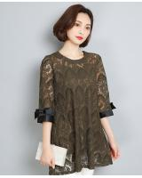 PT1821 Fashion Lace Top Green (Pre Order)