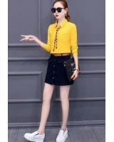 PT1825 Stylish Top And Skirt Yellow (Pre Order)