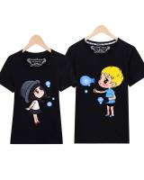 PT1848 Cute Couple Top Black (Pre Order)