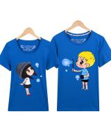 PT1848 Cute Couple Top Blue (Pre Order)