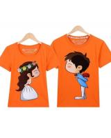 PT1850 Trendy Couple Top Orange (Pre Order)