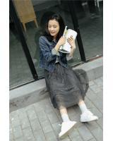 PK1910 Lovely Skirt Grey (Pre Order)