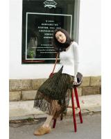 PK1911 Lace Skirt Army Green (Pre Order)