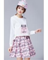 PT1924 Sweet Top and Skirt Set Pink (Pre Order)