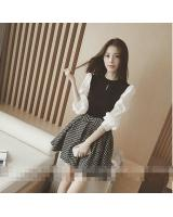 PT1926 Stylish Top and Skirt Set Black (Pre Order)