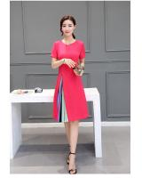 WD7510 Elegant Dress Dark Pink
