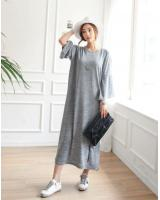 WD7516 Korea Fashion Dress Grey