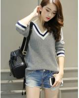 WD7523 Knit Top Grey