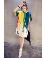 WD7542 Colourful Dress As Picture