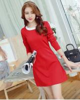 WD3783 Charming OL Dress Red