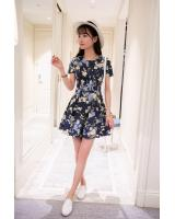 PD1947 Floral Dress Yellow (Pre Order)