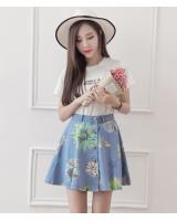 PK1950 Denim Skirt Light Blue (Pre Order)