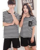 PT2066 Couple Top & Pant Set Stripe (Pre Order)