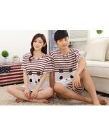 PT2069 Couple Top & Pant Set Brown (Pre Order)