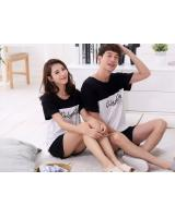 PT2072 Couple Top & Pant Set White (Pre Order)