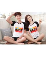 PT2073 Couple Top & Pant Set White (Pre Order)