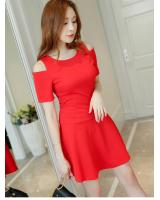 WD3801 Charming OL Dress Red