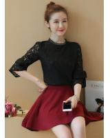 WT7578 Lovely Lace Top Black