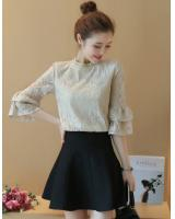 WT7578 Lovely Lace Top Almond