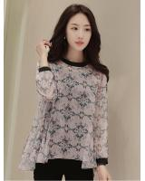 WT7584 Two Pieces Chiffon Top Grey