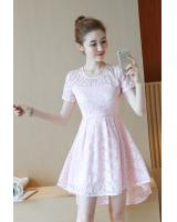 PD1959 Pretty Lace Dress Pink (Pre Order)