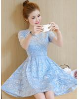 PD1959 Pretty Lace Dress Blue (Pre Order)
