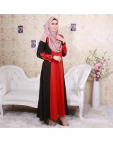 NWF2307 COTTON POLY JUBAH RED