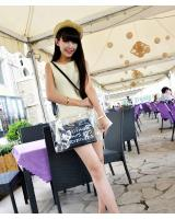 2-in-1 Transparent Clutch Black