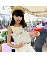 2-in-1 Transparent Clutch Beige