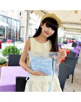 2-in-1 Transparent Clutch Blue