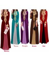 JW5004 Quality Jubah Dress Red